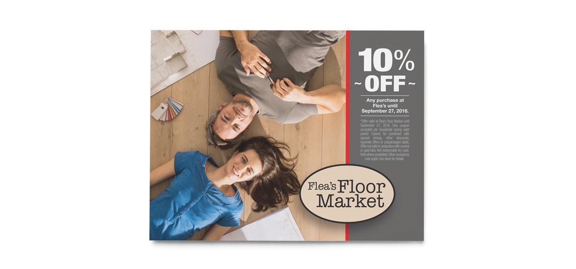 Flea's Floor Market - Coupon Graphic Design