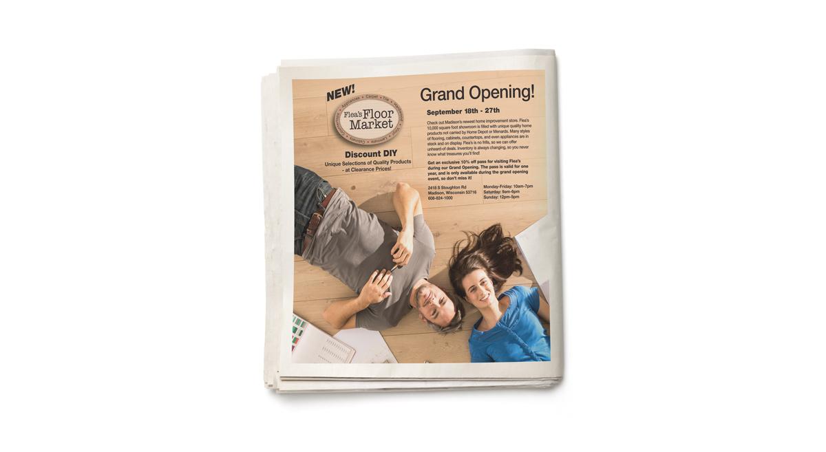 Flea's Floor Market - Grand Opening Print Advertisement