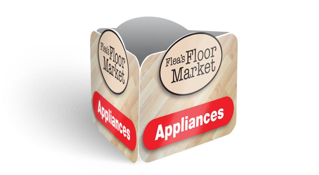 Flea's Floor Market - Interior Signage Feature
