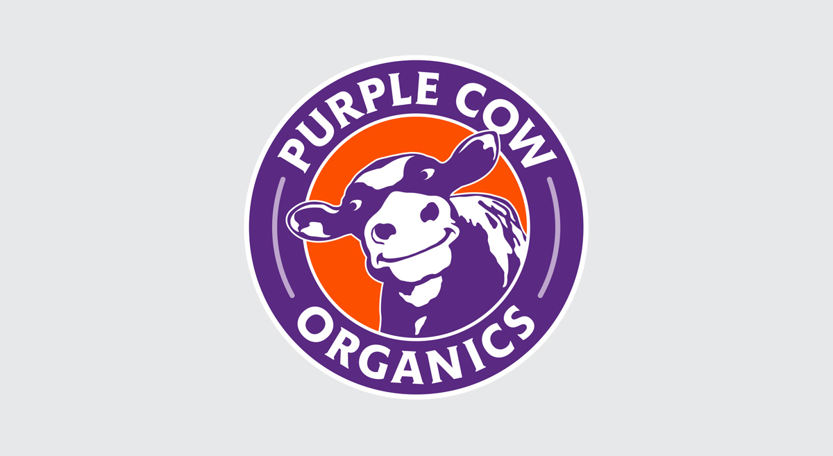 Purple Cow Organics - Logo Design, 4 Color