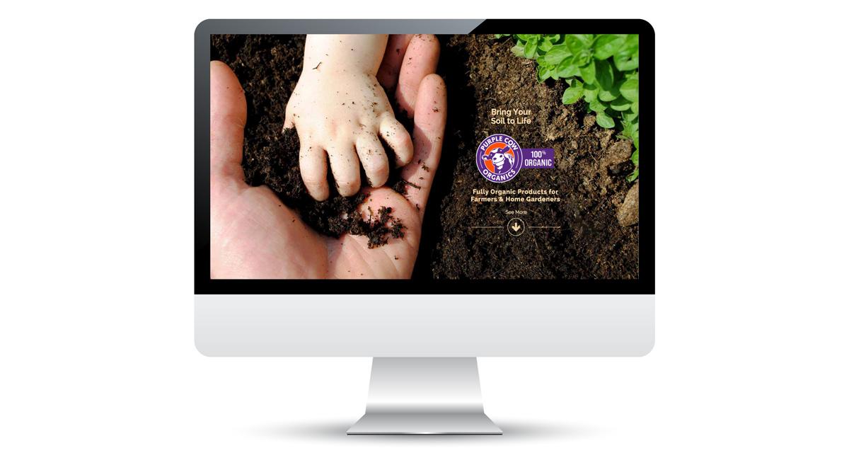Purple Cow Organics - Website Design, 1