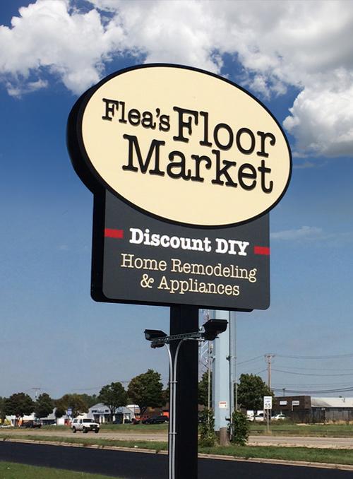 Flea's Floor Market - Outdoor Signage
