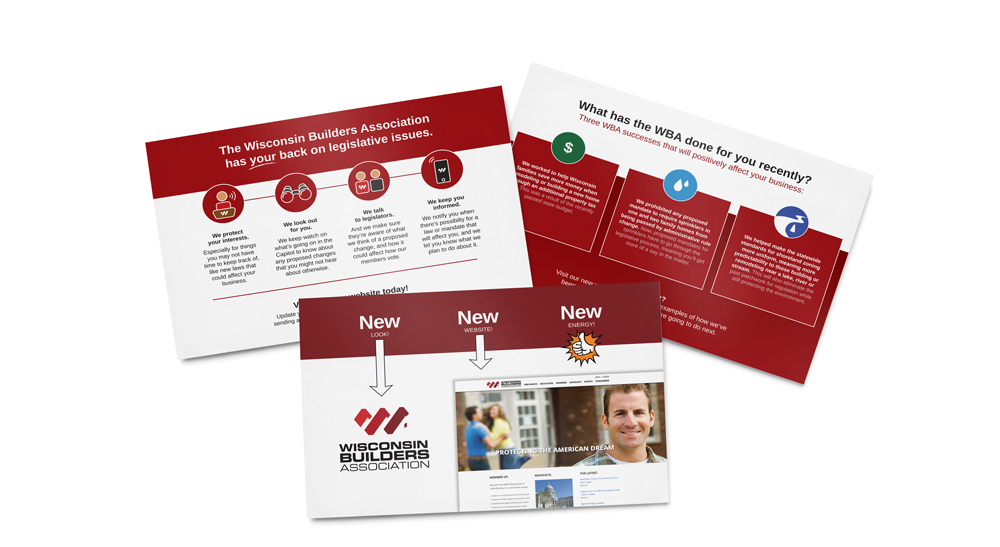 Wisconsin Builders Association Direct Mailers By Pop Dot