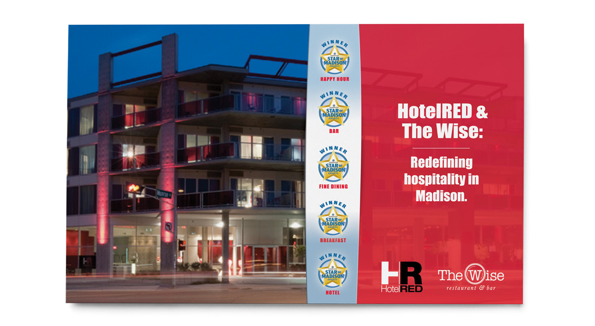 HotelRED Star of Madison 2016 Print Ad