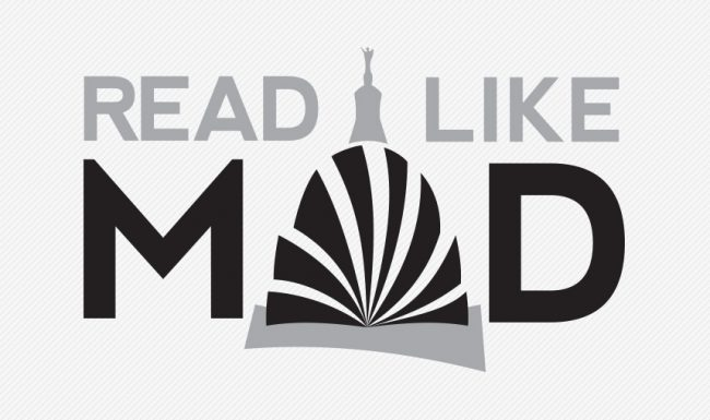 Read Like Mad, Madison WI, Grayscale Logo