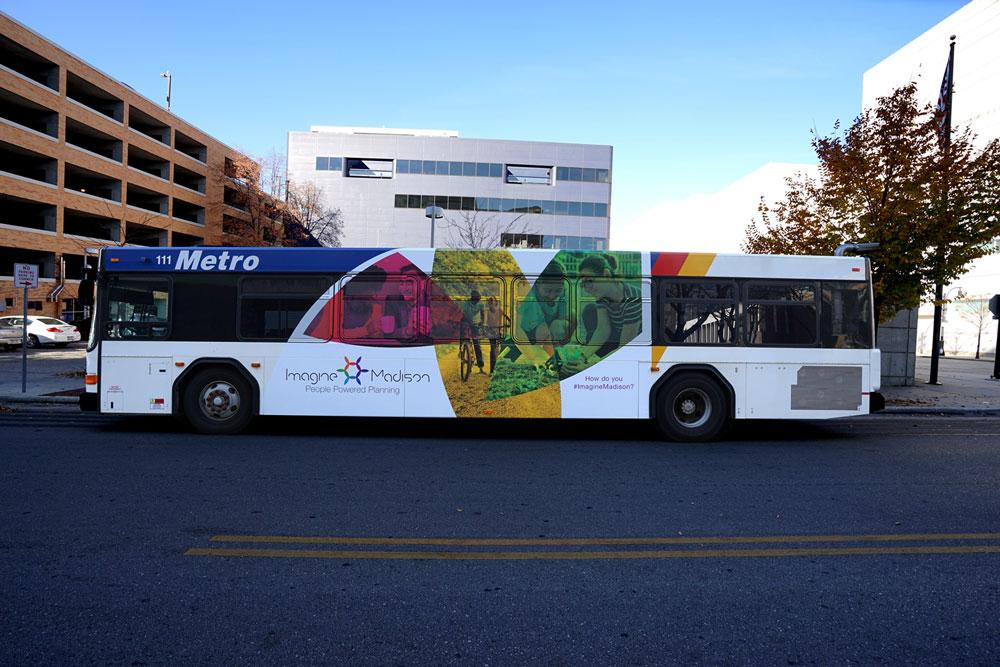 Imagine Madison - Bus Wrap Design 1