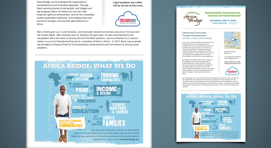 Africa Bridge - American Family Insurance's DreamBank Invitation