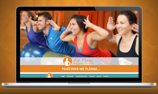 Fit Moms Website Design - Home Page Screenshot