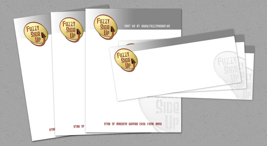 Fuzzy Side Up - Letterhead Design