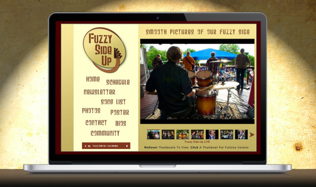 Fuzzy Side Up - Website Design