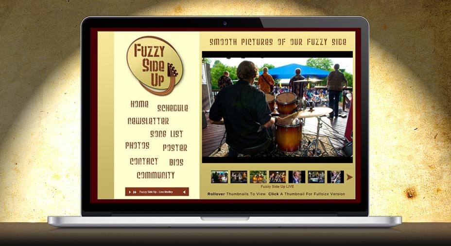 Fuzzy Side Up - Website Design