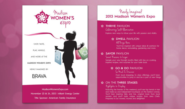 Madison Women's Expo Postcard - Brand Advertising