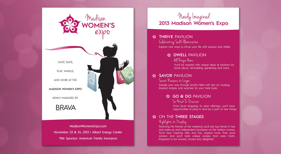 Madison Women's Expo Postcard - Brand Advertising