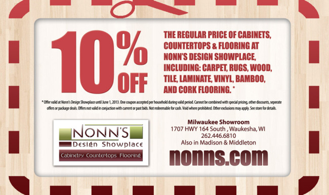 Print Advertising - Coupon Graphic Design - Nonn's Design Showplace