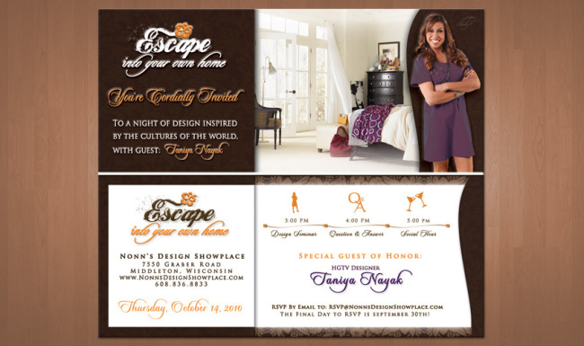 Event Invitation Design - Nonn's Design Showplace - Taniya Nayak