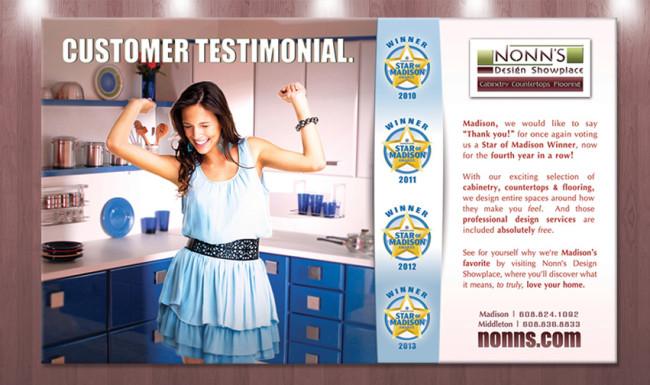 Print Advertising Nonn's Design Showplace - Star of Madison