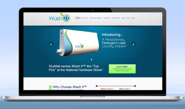Wash It - Website Design
