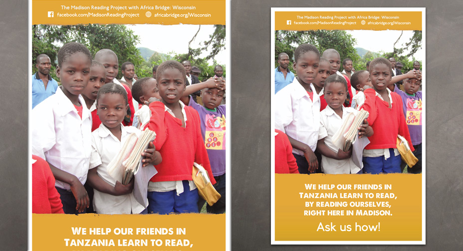 Africa Bridge with Madison Reading Project - Poster Design