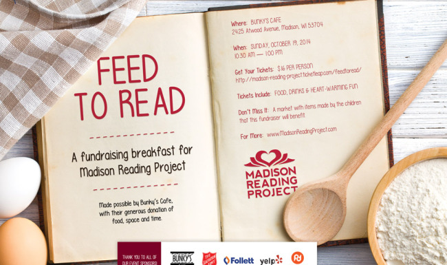 Madison Reading Project - Fundraising Advertising Design
