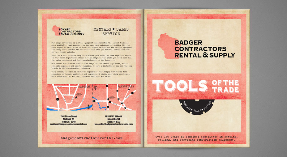 Catalog Graphic Design Badger Contractors