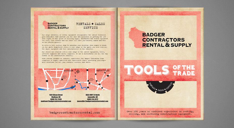 Badger Contractors Rental & Supply - Catalog Design