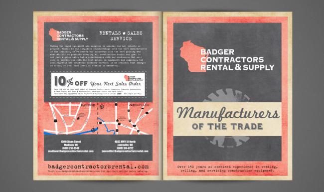 Catalog Graphic Design Badger Contractors Rental & Supply