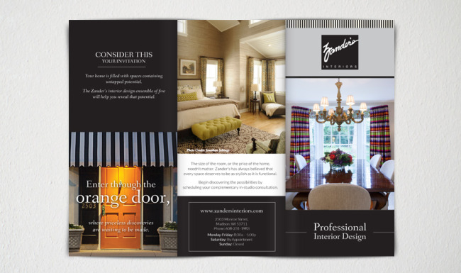 Print Advertising Brochure - Zander's Interiors