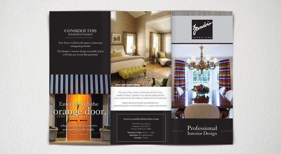 Print Advertising Brochure - Zander's Interiors