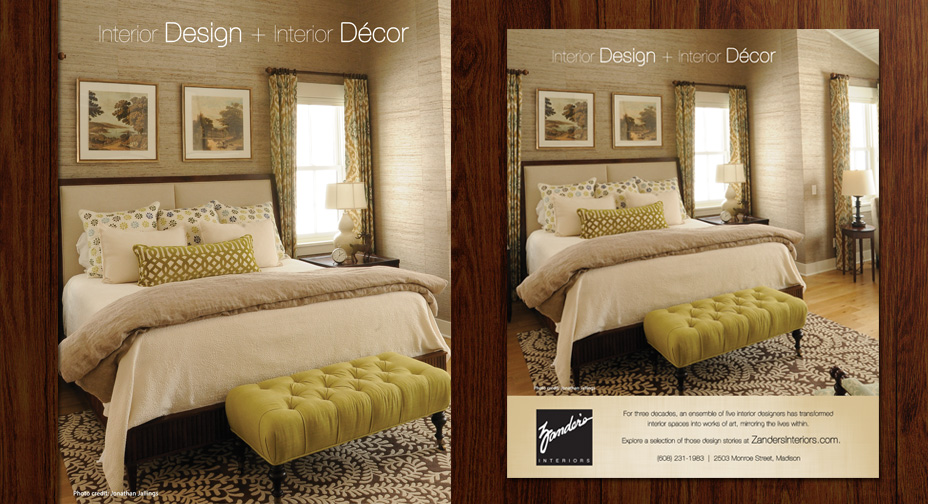 Zander's Interiors - Print Advertising - Lakeshore Living Magazine