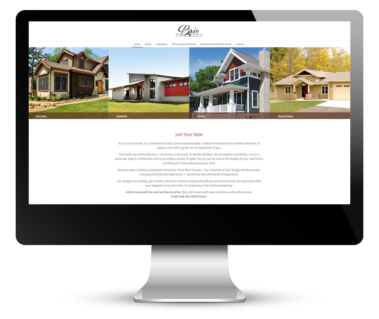 Brio Digital Marketing: Website Design, Slide 1
