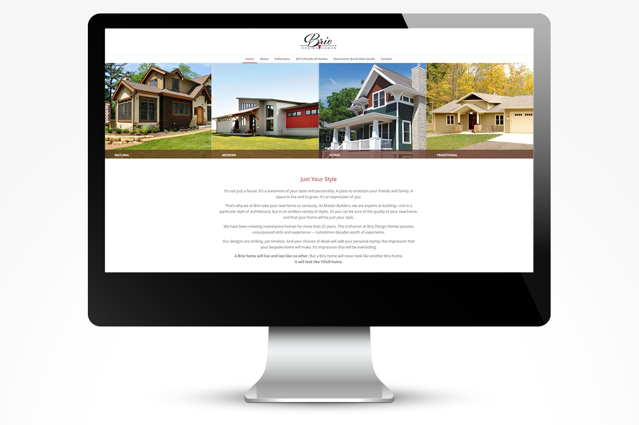 Brio Digital Marketing: Website Design, Home Page