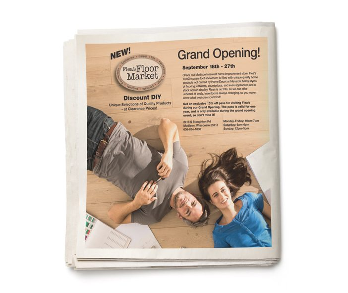 Flea's Floor Market - Grand Opening Print Advertisement