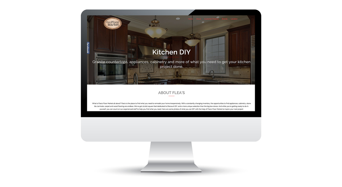Flea's Floor Market - Website, Slide 1