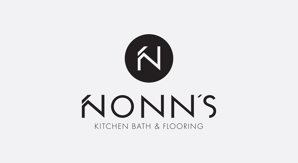 Nonn's - Logo Design - Vertical Black