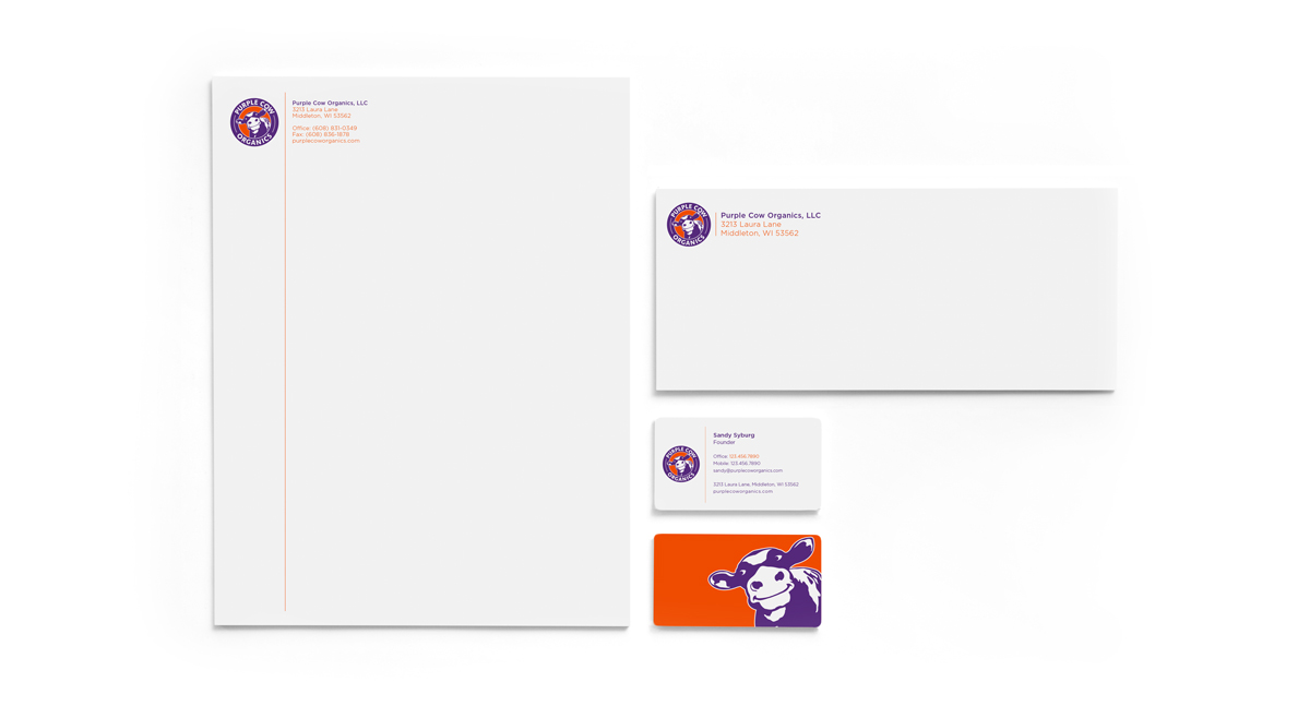 Purple Cow Organics - Stationery System