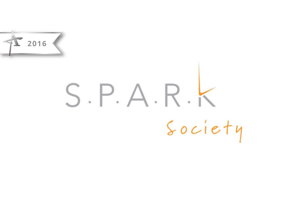 Logo Design Spark Society - 2016 American Advertising Award Winner
