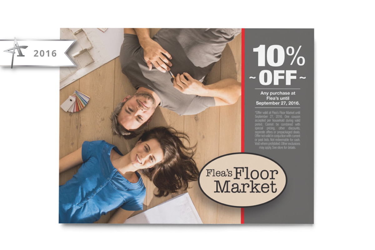 Flea's Coupon Design - 2016 American Advertising Award Winner
