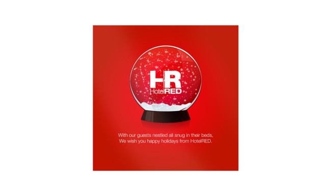 HotelRED Holiday Email Graphic