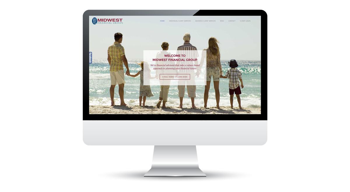 Midwest Financial Group - Web Design, Slide 1