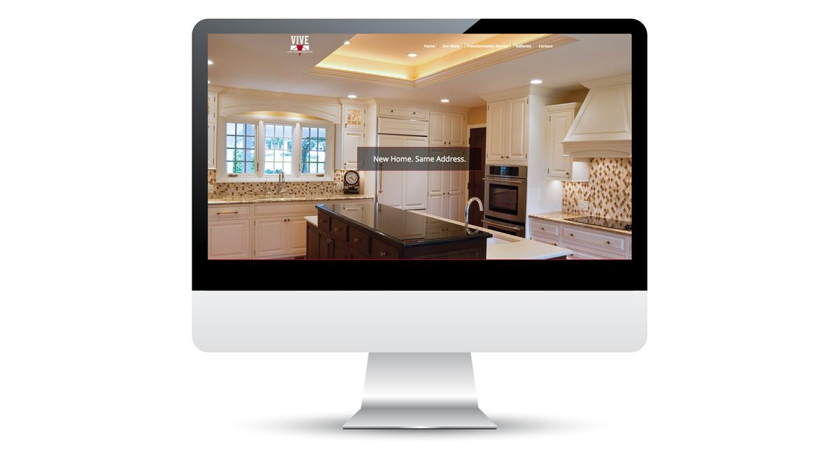 Vive Home Transformations - Website Design, Slide 1