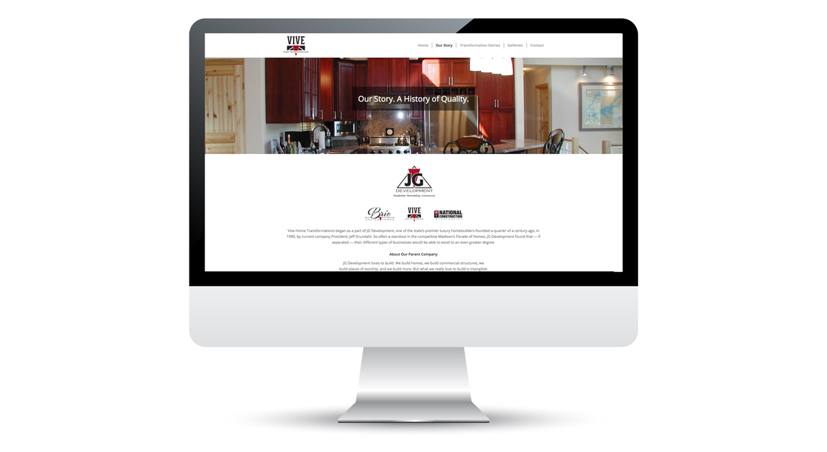 Featured Client Work   Vive Home Transformations. Vive Home Transformations    Website Design ...