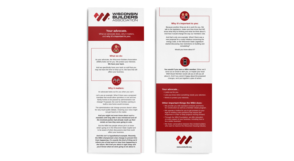 Wisconsin Builders Association - Marketing Collateral
