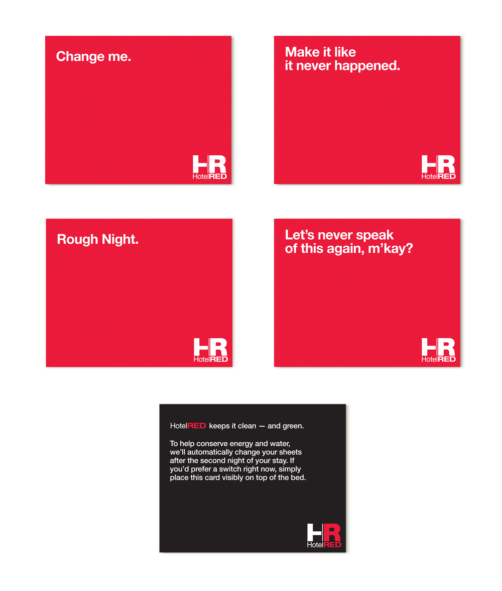 HotelRED - Change Me Card Designs