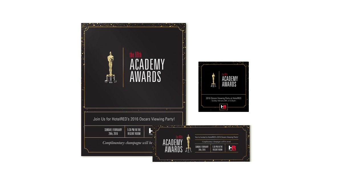 HotelRED - Oscars Party Marketing