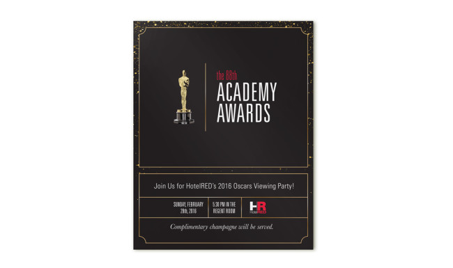 HotelRED - Oscars Party Poster