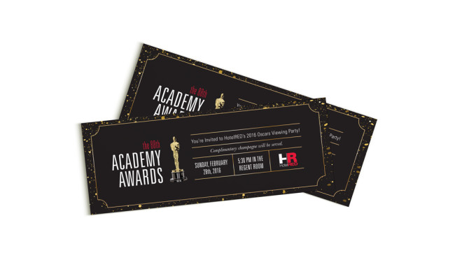 HotelRED - Oscars Party Tickets