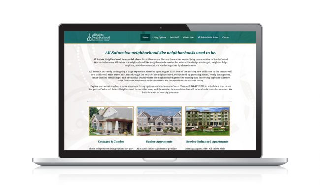All Saints Neighborhood - Web Design 2