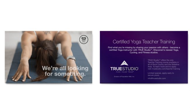 TRUE Studio - Certification Promotion Design 1