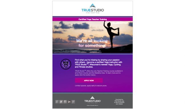 TRUE Studio - Email Marketing - Design 3