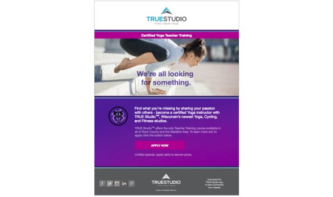 TRUE Studio - Email Marketing - Design 4